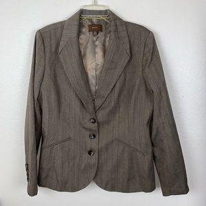 Merona Tan Brown Career Business Blazer Jacket 16